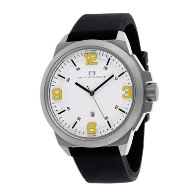Oceanaut Armada Mens Black Rubber Strap Watch