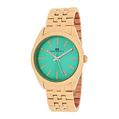 Oceanaut Chique Womens Green Dial Stainless Steel Bracelet Watch