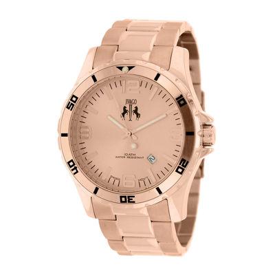 Jivago Ultimate Mens Rose-Tone Stainless Steel Bracelet Watch
