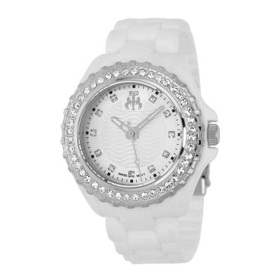 Jivago Cherie Ladies Silver Dial White Bracelet Watch