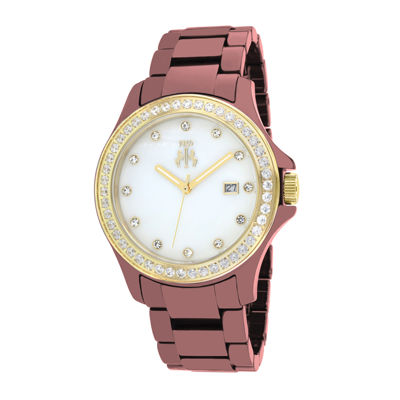 Jivago Womens Red Ceramic Bracelet Watch