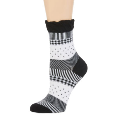 Legale® Mixed Print Fluted-Top Girly Socks