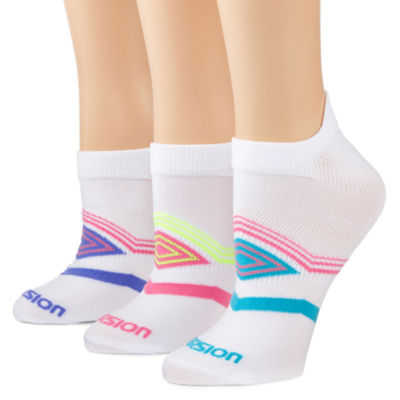 Xersion™ 3-pk. Stay-In-Place Tab Socks
