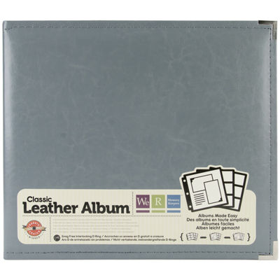 3-Ring Leather Album - Charcoal