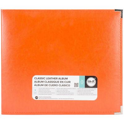 3-Ring Leather Album - Orange Soda