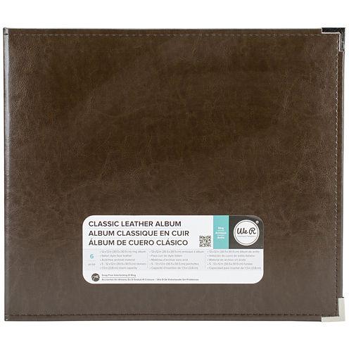 3-Ring Leather Album - Dark Chocolate