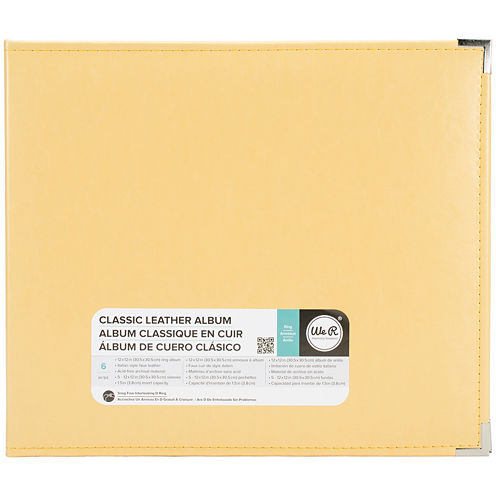3-Ring Leather Album - Buttercup