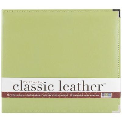 3-Ring Leather Album - Kiwi