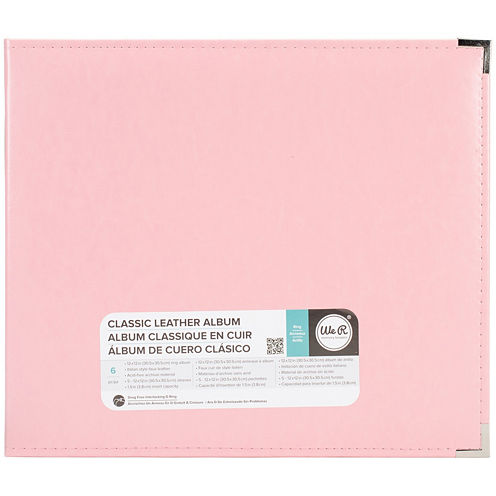3-Ring Leather Album - Pretty Pink