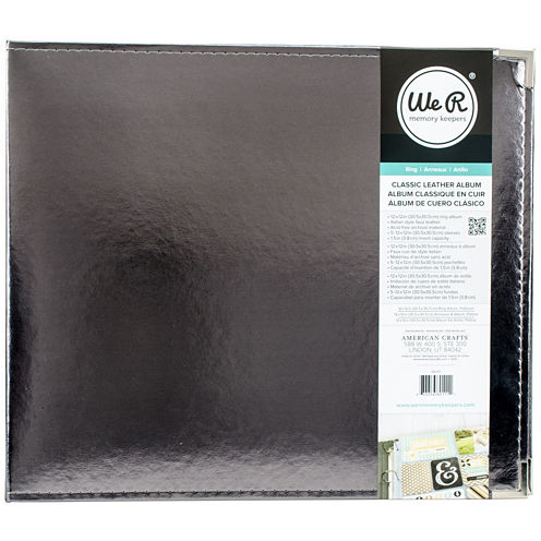 3-Ring Leather Album - Silver