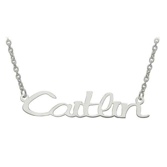 Personalized 9x45mm Veilchen Font Name Necklace