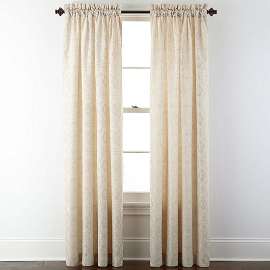 Home Expressions Light Filtering Rod Pocket Curtain Panel