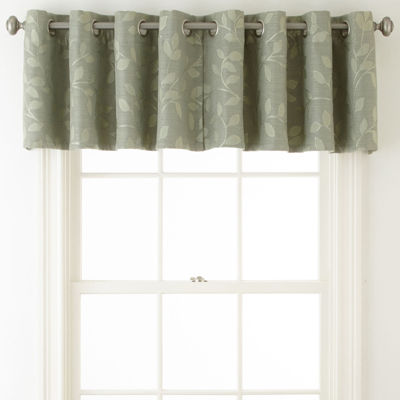 Liz Claiborne Quinn Leaf Grommet Top Single Insert Valance
