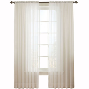 Vue™ Signature Textured Chiffon Rod-Pocket Curtain Panel