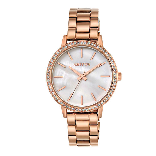Armitron Womens Rose Goldtone Bracelet Watch 75 5500mprg