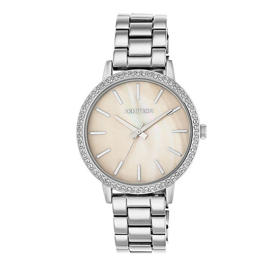 Armitron Womens Silver Tone Bracelet Watch-75/5500tmsv