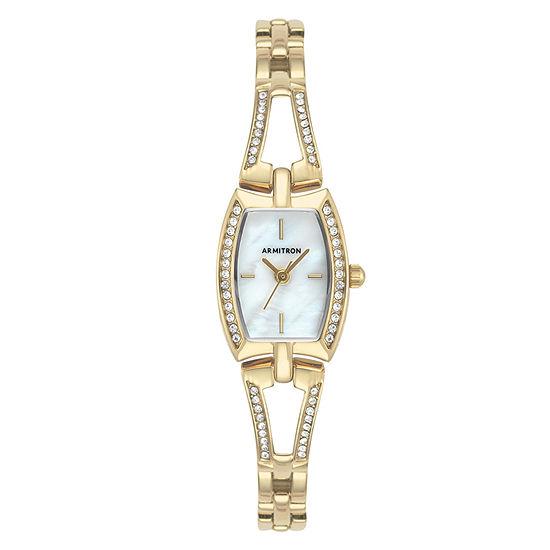 Armitron Womens Crystal Accent Gold Tone Bracelet Watch-75/5502mpgp