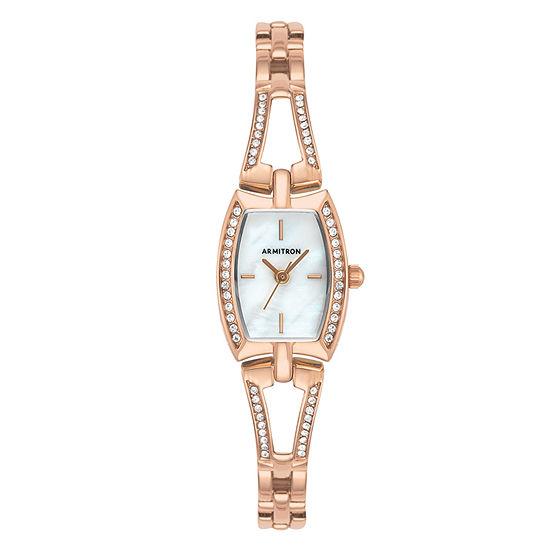 Armitron Womens Rose Goldtone Bracelet Watch-75/5502mprg