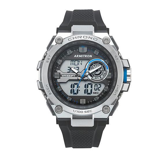 Armitron Mens Black Strap Watch-20/5242bbk