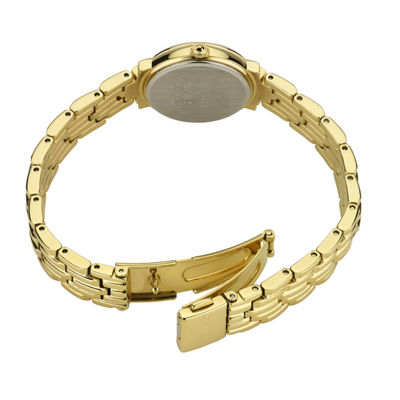 Seiko Tressia Womens Gold Tone Bracelet Watch-Sup356
