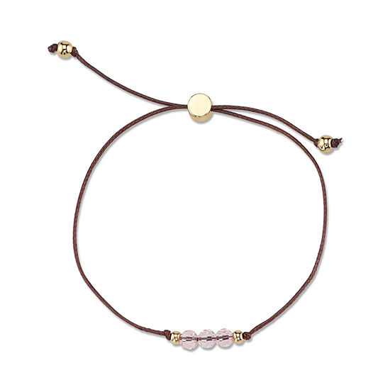 Womens Pink Silver Over Brass Wrap Bracelet