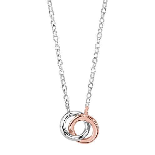 Bridge Jewelry Womens Sterling Silver Pendant Necklace