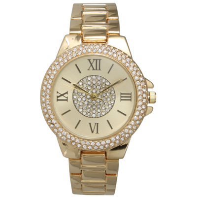 Olivia Pratt Womens Gold Tone Bracelet Watch-15845