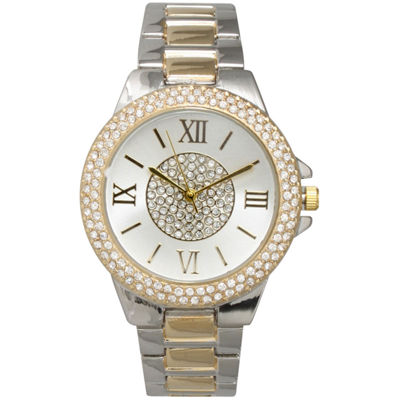 Olivia Pratt Womens Two Tone Bracelet Watch-15845