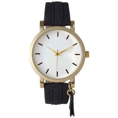 Olivia Pratt Tassle Charm Womens Gray Strap Watch-15984