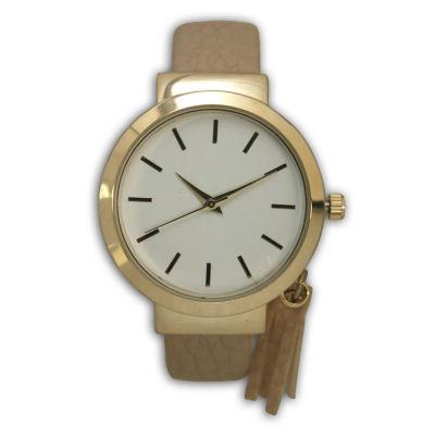 Olivia Pratt Tassle Charm Womens Brown Bangle Watch-16120