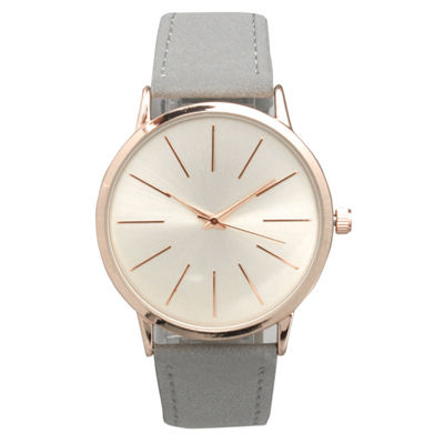 Olivia Pratt Womens Gray Strap Watch-16243