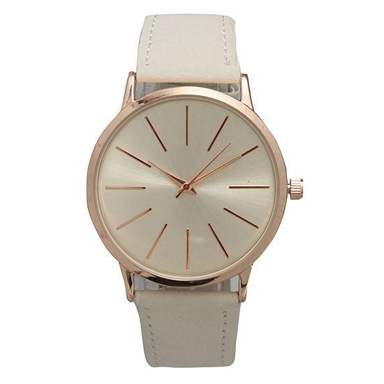 Olivia Pratt Womens White Strap Watch-16243