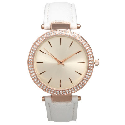 Olivia Pratt Womens White Strap Watch-16257