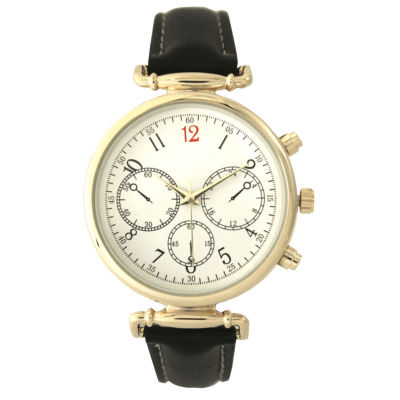 Olivia Pratt Womens Black Strap Watch-16557