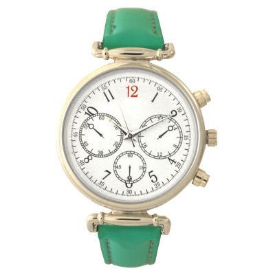 Olivia Pratt Womens Green Strap Watch-16557