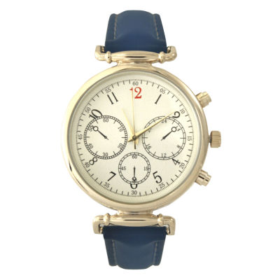 Olivia Pratt Womens Blue Strap Watch-16557