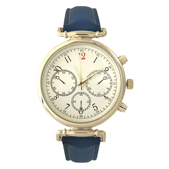 Olivia Pratt Womens Blue Strap Watch-16557