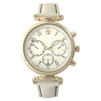 Olivia Pratt Womens White Strap Watch-16557