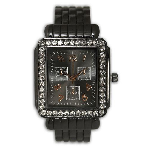Olivia Pratt Womens Gray Bangle Watch-16645