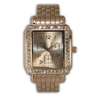 Olivia Pratt Womens Rose Goldtone Bangle Watch-16645