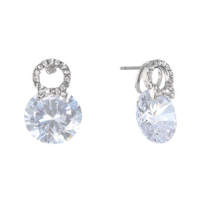 Monet Jewelry The Bridal Collection Clear 19mm Stud Earrings