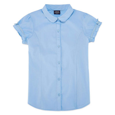 Izod Exclusive Short Sleeve Button-Front Shirt Girls 4-18 and Plus
