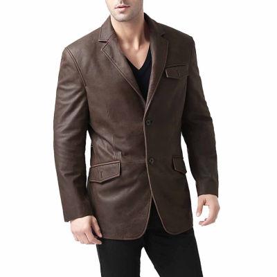 Leather Blazer Topcoat