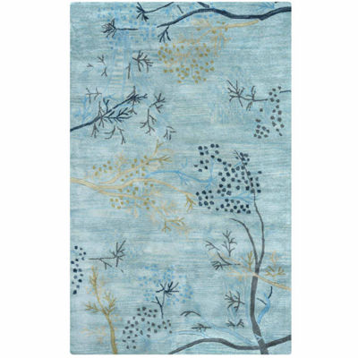 Rizzy Home Craft Floral Rectangular Indoor Area Rug