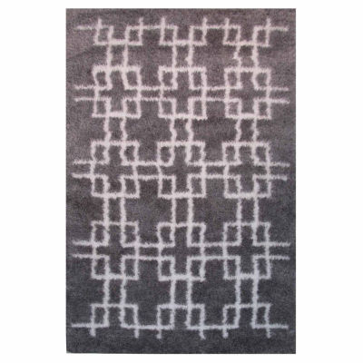 La Rugs Touch Squares Ii Shag Rectangular Runner