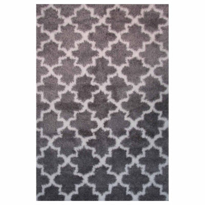 La Rugs Touch Pattern Ii Shag Rectangular Runner