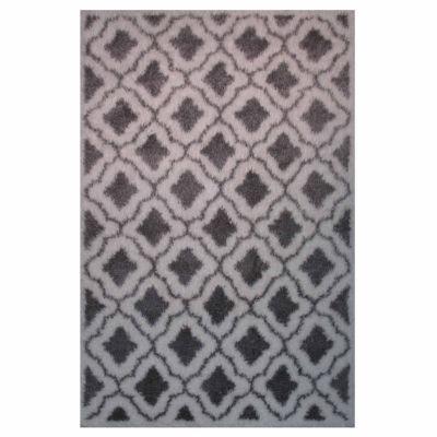La Rugs Touch Pattern V Shag Rectangular Runner