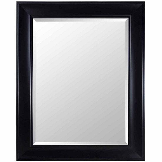 Black Beveled Wall Mirror