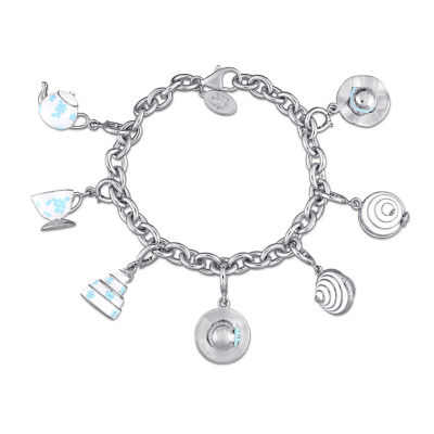 Laura Ashley Tea Party Collection Womens 7-pc. White Sapphire Sterling Silver Bracelet Set