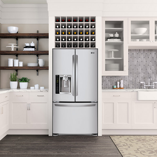 LG 24.1 cu. ft. Ultra Large Capacity 3-Door French Door Refrigerator with Dual Ice Makers
